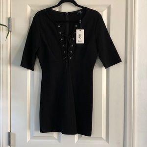 BARDOT NWT black lace up dress